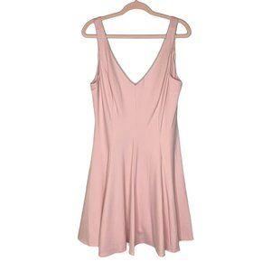 Amanda Uprichard x GB Pink Ponte Knit Skater Dress